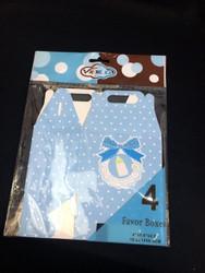 Blue Favor Box Baby Bib 4 ct.