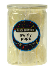 Swirly Lollipops White 24 Pops