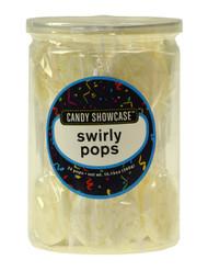 Swirly Lollipops White 288 Pops Case