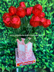Belgian Milk Chocolate Red Foil Roses 20 ct.