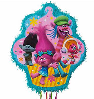Trolls Outline Pull String Pinata