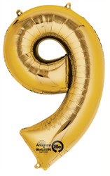 "Anagram Giant Foil Number ""9"" Balloon/Gold 34"" Tall"