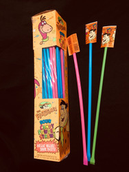 Sour Flintstones Giant Straws 16 - 48 Count packs CASE