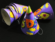 Party Hats B-Day Purple 8 ct
