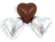 Wrapped Chocolate Hearts Silver 10 Pounds CASE