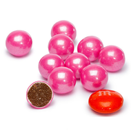 Sixlets Shimmer Pink 12 LBS CASE/ Candy Coated Chocolate