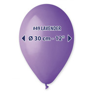 "Gemar Lavender Balloons 12""/50 count Pack"