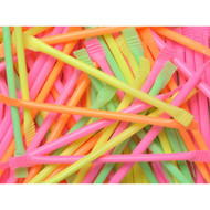 Neon Laser Candy Filled Straws 18PK/CASE