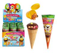Chocolate Cream Cone + Toy Treasure 12pk CASE