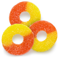 Peach Gummi Rings 18 Lbs Pounds CASE