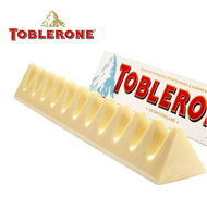 Toblerone Swiss White Chocolate with Honey and Almond Nougat Bar Pack 20ct