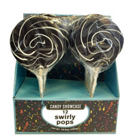 "CS Swirly Pop 3"" Black 12ct Pack"