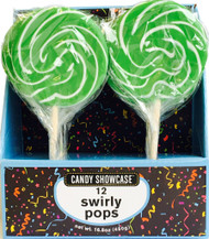 "CS Swirly Pop 3"" Green CASE/72ct"
