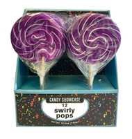 "CS Swirly Pop 3"" Purple CASE/72ct"