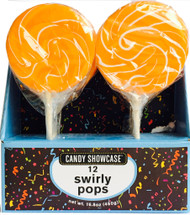 "CS Swirly Pop 3"" Orange CASE/72ct"