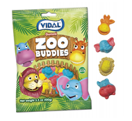 Vidal Gummi Zoo Buddies  Case 14 bags x 3.5 oz /each