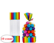 Candy Favor Bags 10 ct Rainbow