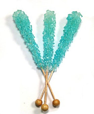 Tiffany Blue Rock Candy on Sticks 12 Count
