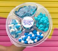 Blue sugar plate