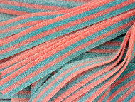 Sour Power Candy Belts Pink & Blue Cotton Candy 75 pieces 1.5lbs