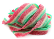 Sour Power Candy Belts Green, White & Red Watermelon 75 pieces 1.5lbs