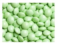 Pastel green chocolate gems