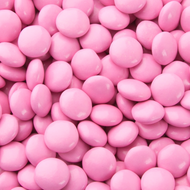 Pink chocolate gems