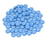 Chocolate Gems - Powder Blue 1.5 Pounds