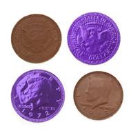 Chocolate Coins 1 Pounds (lb) Purple
