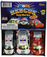 Kidsmania Rescue Cars Candy Filled Cars 12 count