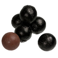 Chocolate Foil Marbles Balls Black 1.5 Pounds