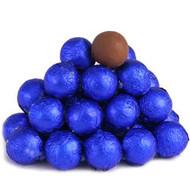 Chocolate Foil Marble Balls Royal Blue 1.5 Pounds