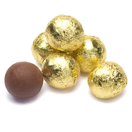 Chocolate Foil Marbles Balls gold 1.5 Pounds