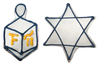 >Dreidel & Star of David