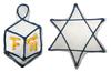 >Dreidel & Star of David