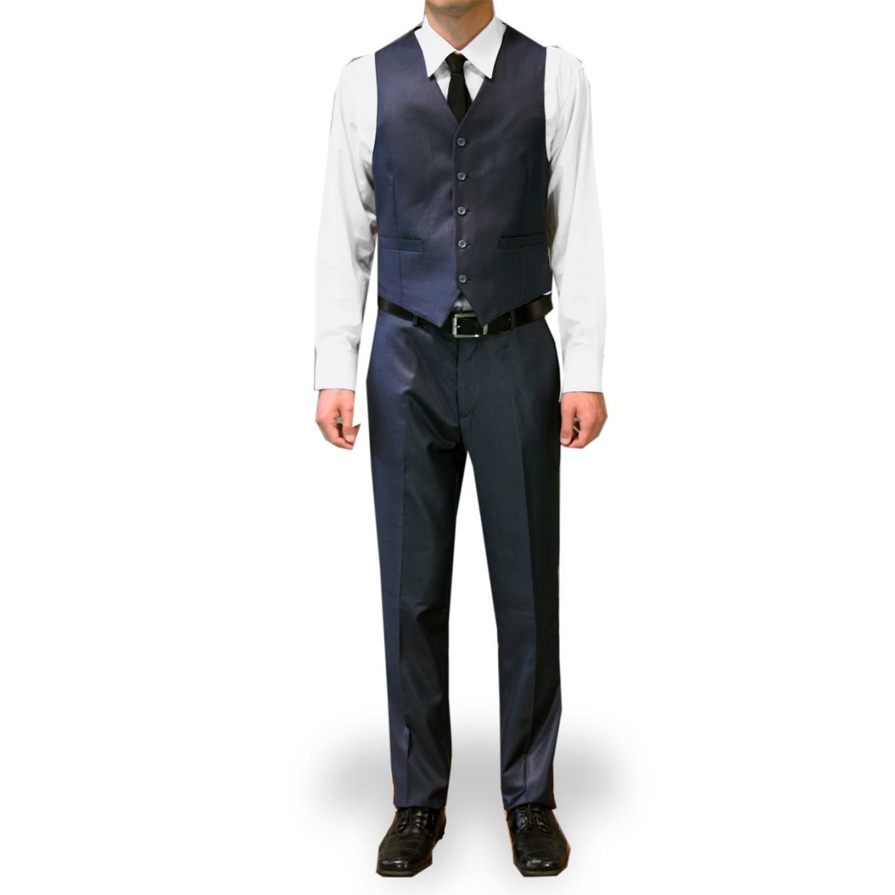 Figlio Lontano 3 Piece Slim Fit Suit Midnight Blue