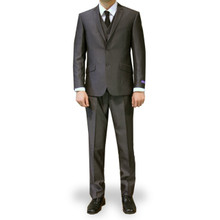 Figlio Lontano 3 Piece Slim Fit Suit - Dark Charcoal
