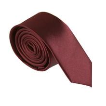 Amanti Italian Style Skinny Tie Burgundy Wine