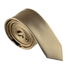 Amanti Italian Style Skinny Tie Gold