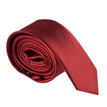 Amanti Italian Style Skinny Tie Red