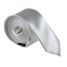 Amanti Italian Style Skinny Tie White