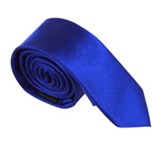Amanti Italian Style Skinny Tie Royal