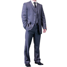 Dolce Vita 3 Piece Fashion Fit Suit - Plain Gray
