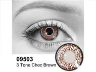 Chocolate 3 Tone Contact Lenses
