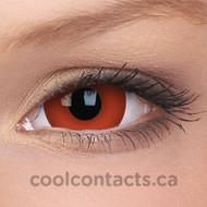 Hot Red 17mm Mini-Sclera Contact Lenses