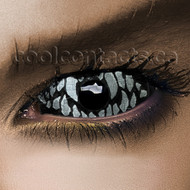 White Venom 22mm Sclera Contact Lenses