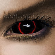 Thin Red Line 22mm Sclera Contact Lenses