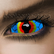 Summer Iguana 22mm Sclera Contact Lenses