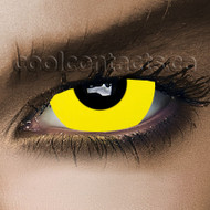 Yellow out 17mm Mini-Sclera Contact Lenses