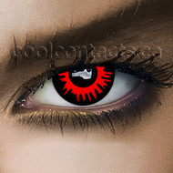 Red Eclipse  Contact Lenses